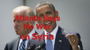 Atlanta Says No WAR on Syria