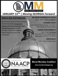GA Moral Monday flyer
